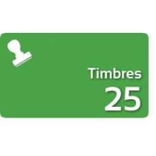 25 Timbres Fiscales